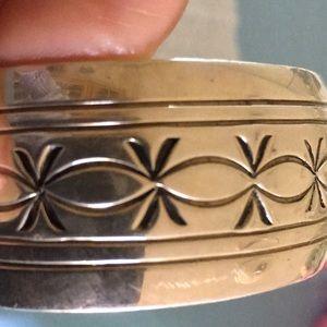 Jewelry - Navajo signed sterling cuff bracelet